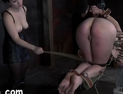 Sweet hottie is made to devour anal output during torture