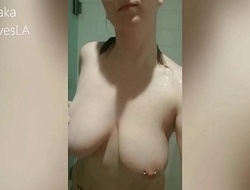 CURVY BIG TITTY BLONDE ANDI VIP SNAPCHAT SHOWER COMPILATION