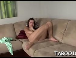 Lip smacking legal age teenager enjoys engulfing her studs huge dick
