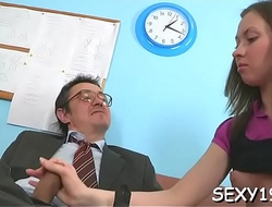 Young honey tricked into having wild sex with teacher