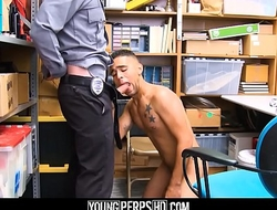 Young Latino Straight Guy Steals Money From Tip Jar Fucked By Gay Security Guard