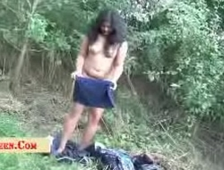 Indian College Girl Changing Cloths in Public