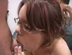 Pink-Eyes - Girl get the first time cum in her eyes....