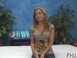 Angel spreads legs wide and starts pushing dildo in her cunt