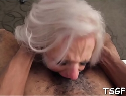 Starving asshole of a moist tranny gets the hardest banging