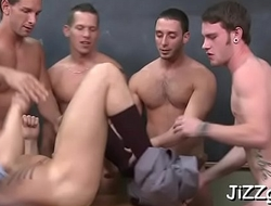 Severe scenes of gay fuckfest with men getting double drilled