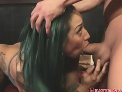 Doggystyled emo beauty sucking dick