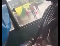 Dude Strectching Dick In A Nairobi Public Bus and Nutting