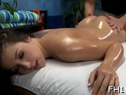 Teen babe gives up the pink to her massagist