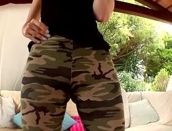 Liz Rainbow in hot leggings showing big camel toe and fucking hard