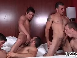 Homosexual dudes fucking like crazy in group scenes while on cam