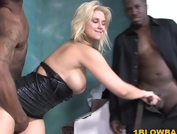 Sarah Vandella BBC Blowjob Orgy