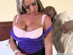 MILF Blonde Carmen Jay Is Hungry For Black Cock