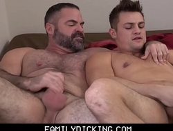 Jock Stepson Caught By His Bear Stepdad Jerking Off Then Fuck