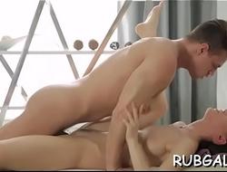 Gal gets massage