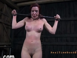 Master is giving gagged sweetheart a brutal pussy pleasuring