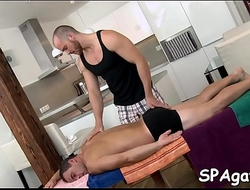 Adorable babe is delighting stud with unfathomable massage