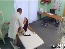 Sexy doctor loves when giant schlongs bang her cunt