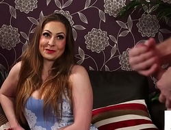 CFNM Uk beauty instructs sub involving jerkoff