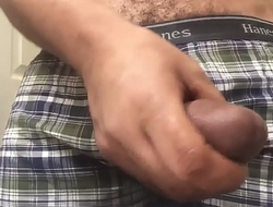 How my friend stroke his cock