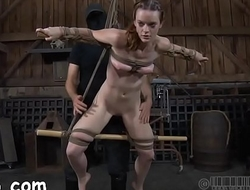 Pleasing darling gets her smooth wazoo whipped brutally