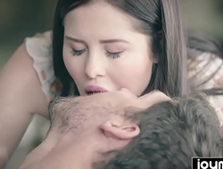 Cassie Fire seduces guy and swallows that thick cum