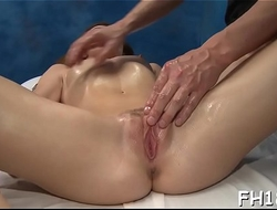 Cute 18 year old oriental beauty gets fucked hard by their way massage therapist