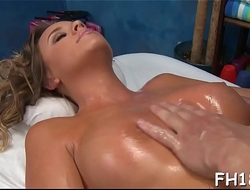 Hot 18 cutie gets fucked hard by her massage therapist