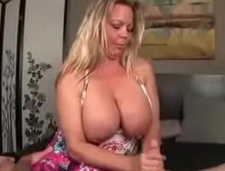 STEPMOMXXXX.COM-Stepmom giving sexy handjob