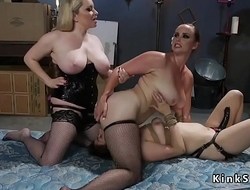 Slave ass fucked and in threesome lezdom