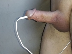 estim cum hands free tiny dick