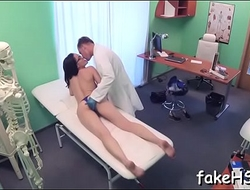 Excited doctor provides a peculiar sex treatment to patient