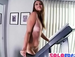 Shae Snow hot girl at gym in her nude sexy body