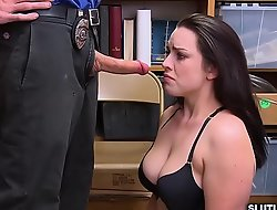 LP Officer ask Raven Driver's seat for a sexy blowjob!