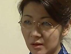 bonny japanese mom coax son