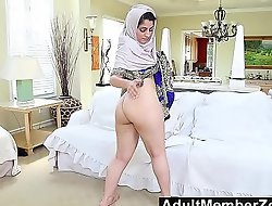 Adultmemberzone - unventilated arab tot gives sex-mad solo masturbation performance