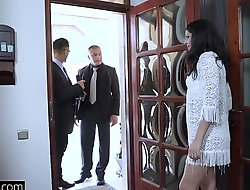 Glamkore - Coco de Mal face fucked outside and anal threesome