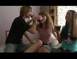 Lucky win gets to Fuck Sister increased by The brush Friend