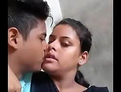Desi college lovers hot hug
