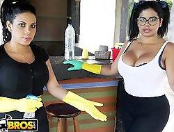 BANGBROS - My A handful of Improper Maids Freulein Ortega and Kesha Ortega Primarily My Big Ol'_ Dick
