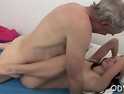 Inferior babe lets an older dude price her cuchy