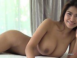 Big boobs primarily Thai girl creampie