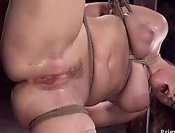 Super suspended babe toyed and squirt