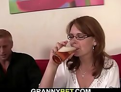 Boozed woman picked up and screwed