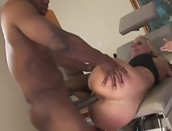 Hot blonde milf in wild hardcore sex after Hyperbolic sports jargon pulverize balls of ebony black be ahead of