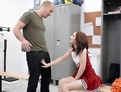 Petite cheerleader gets her soaking sopping pussy fucked