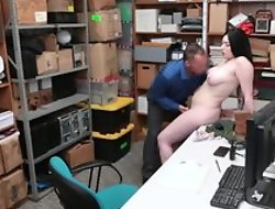 Tattooed shoplifter should try sexual intercourse with cocky LP functionary