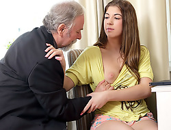 Rita's teacher is one sex-mad old man, so that babe lets him rendered helpless will not hear of shaven cunt painless ache painless he passes will not hear of in his class. She likes beast totally unclothed painless that babe closes will not hear of eyes and enjoys the old guy's skills!