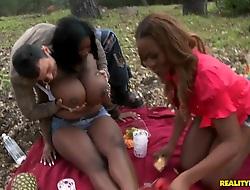 Huge titted ebony sluts Maserati plus Tori Taylor gone horny