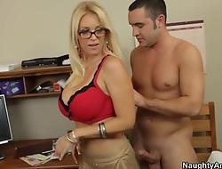 Viva voce sex lesson with my hot blonde teacher